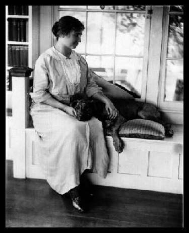 Hellen Keller with Pit Bull