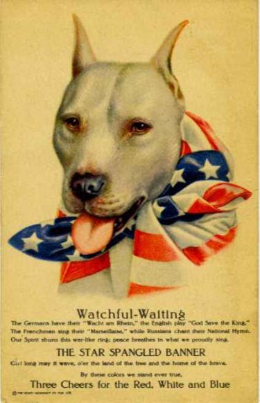 WWI Pitbull Propaganda Poster