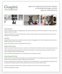 Dog Resume